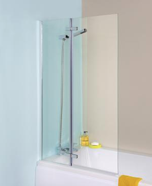 Ella Straight Hinged Bath Screen