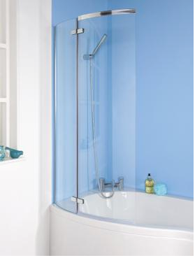 Ella Curved Bath Screen