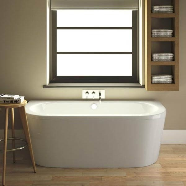 Shingle Double Ended Back To Wall Bath & Wraparound Panel
