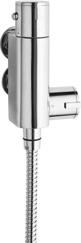 Space Saving Vertical Thermostatic Bar Valve