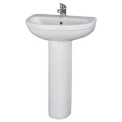 550mm Basin & Pedestal (1 or 2 tap hole)