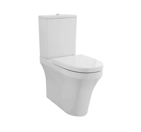 Comfort Height Rimless Flush To Wall Pan, Cistern & Seat