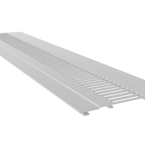 100mm Hollow Soffit Vented White UPVC