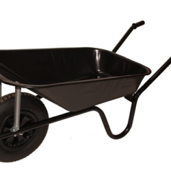 Camden Black 85l Pneumatic Wheelbarrow
